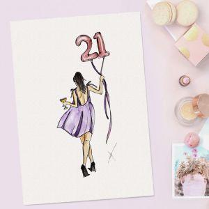 Persoonlijke verjaardagsillustratie door Sophie de Ruiter