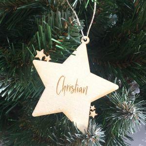Kersthanger sterretjes met naam