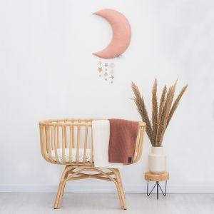 Maan met sterren roze (45cm) Picca LouLou