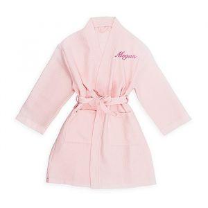 Kimono tienermeisje wafel roze met naam (10-14j)